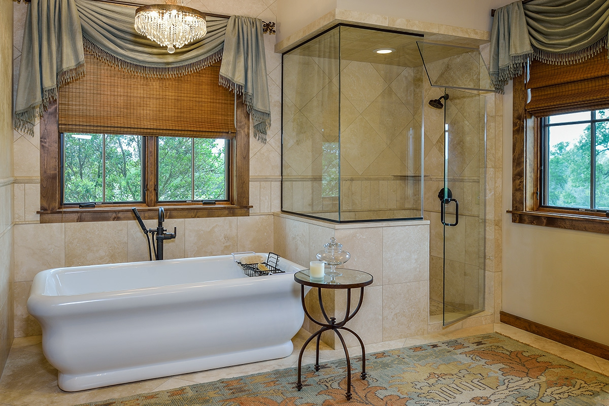 Bathrooms that provide spa-like features...